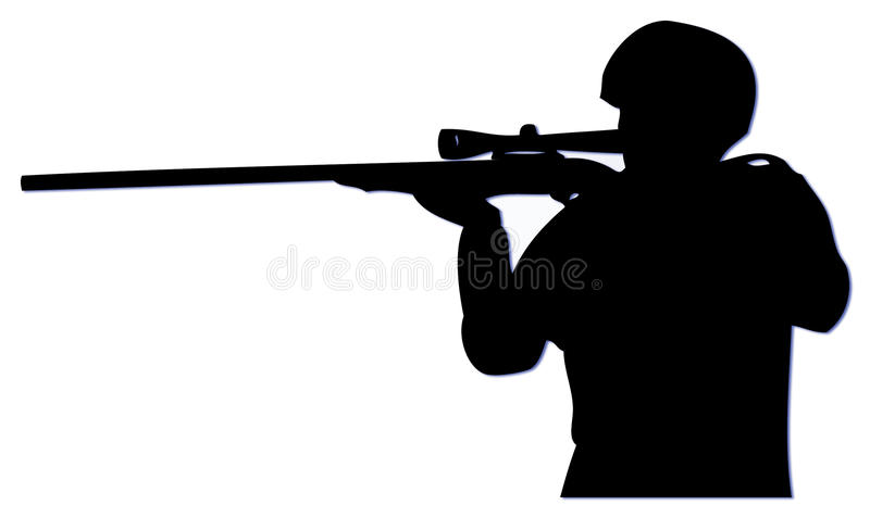 Slihouette Sniper royalty free stock images