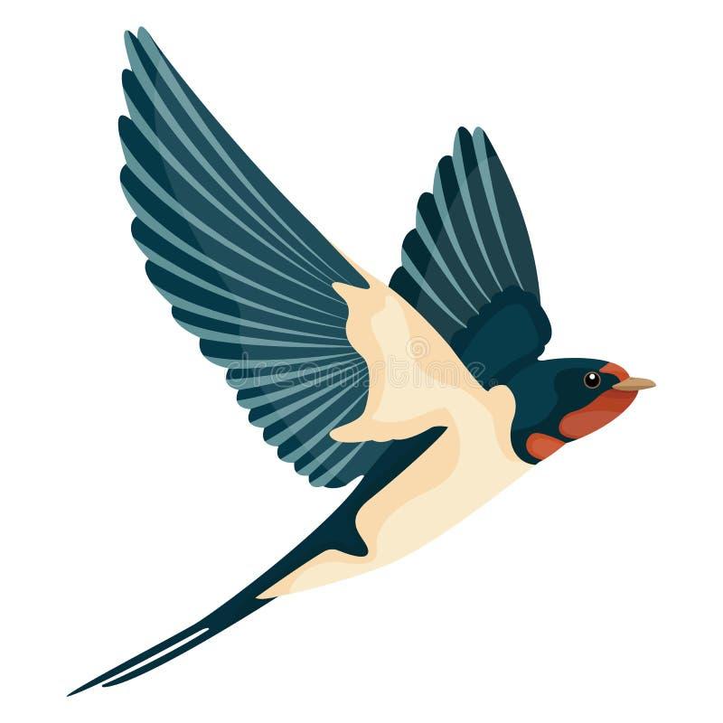 Slik tijdens de vlucht de vectorvlakte van de illustratiestijl royalty-vrije illustratie