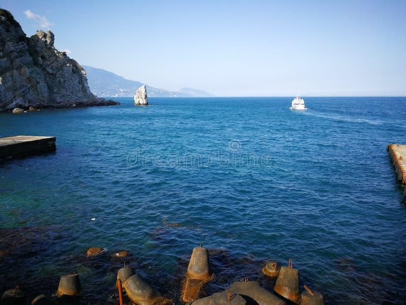 Slikten Nestkasteel, Gaspra, Yalta-gebied/de Krim royalty-vrije stock afbeelding