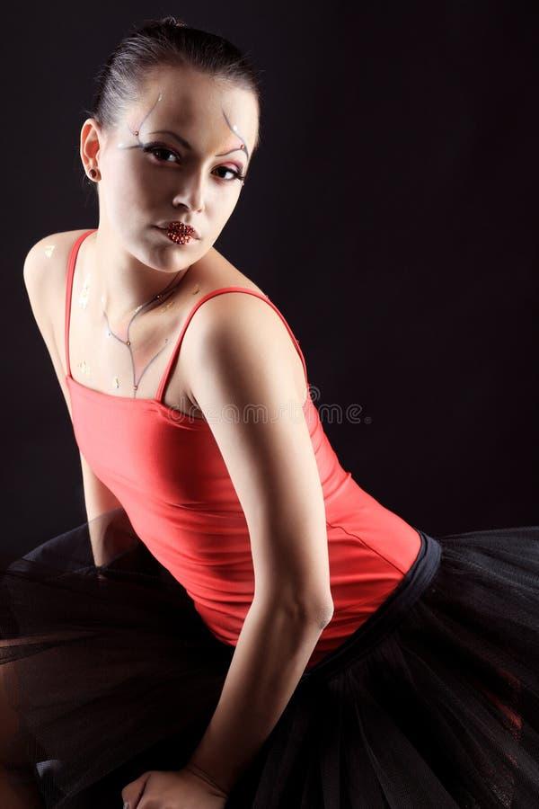 Slim actress royalty free stock image