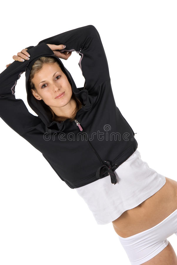 Download Slim athletic model stock image. Image of human, beautiful - 12057425