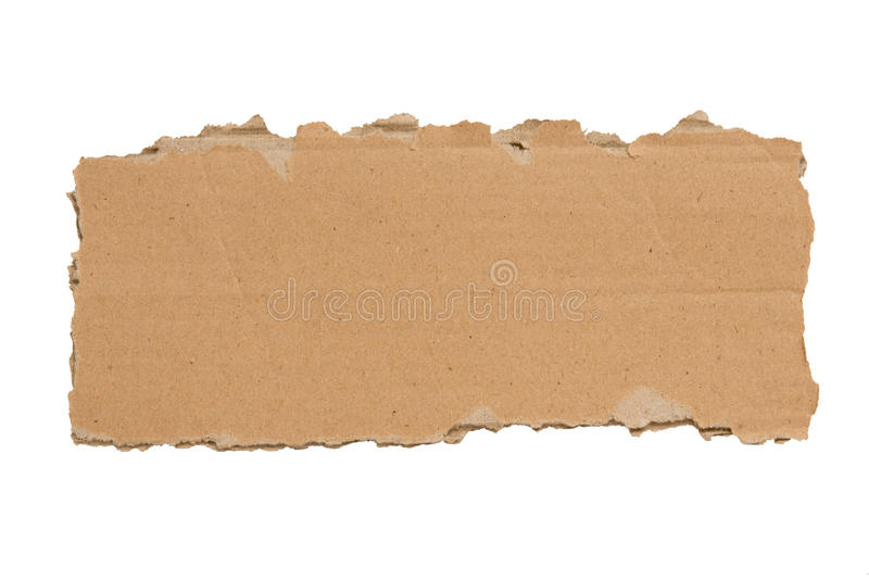 Download Slim Blank Torn Piece Of Cardboard Isolated XXXL Stock Image - Image: 28289385
