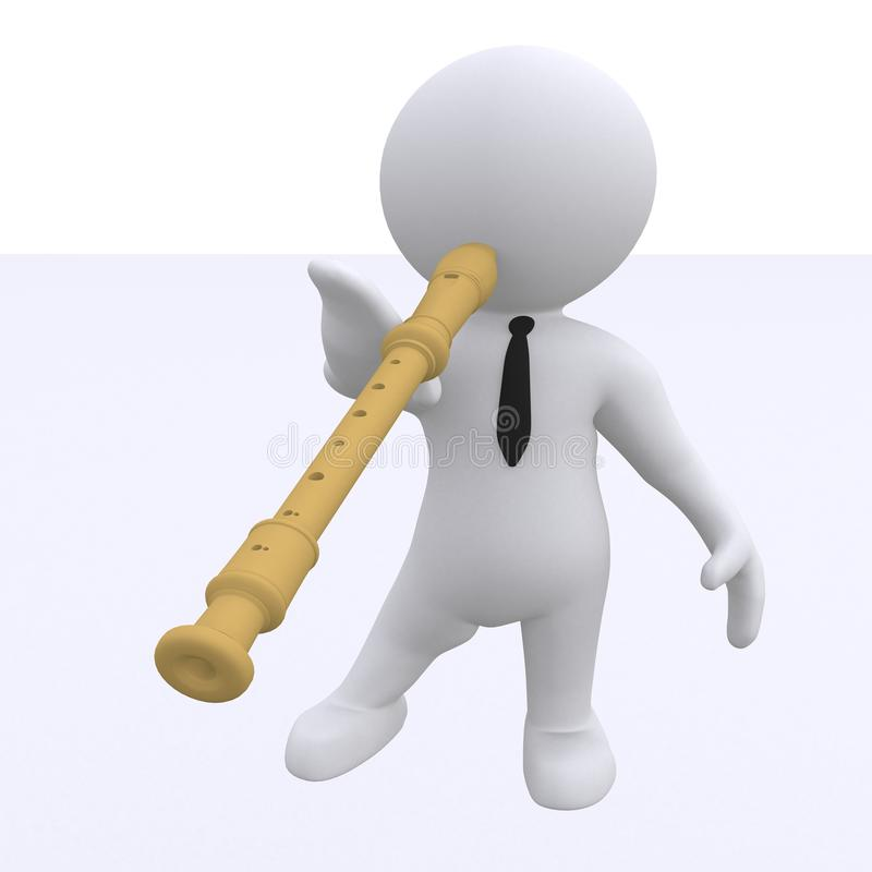 Slim cijfer met fluit vector illustratie