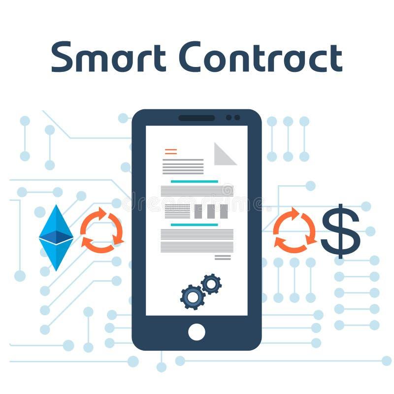 Slim contractconcept stock illustratie