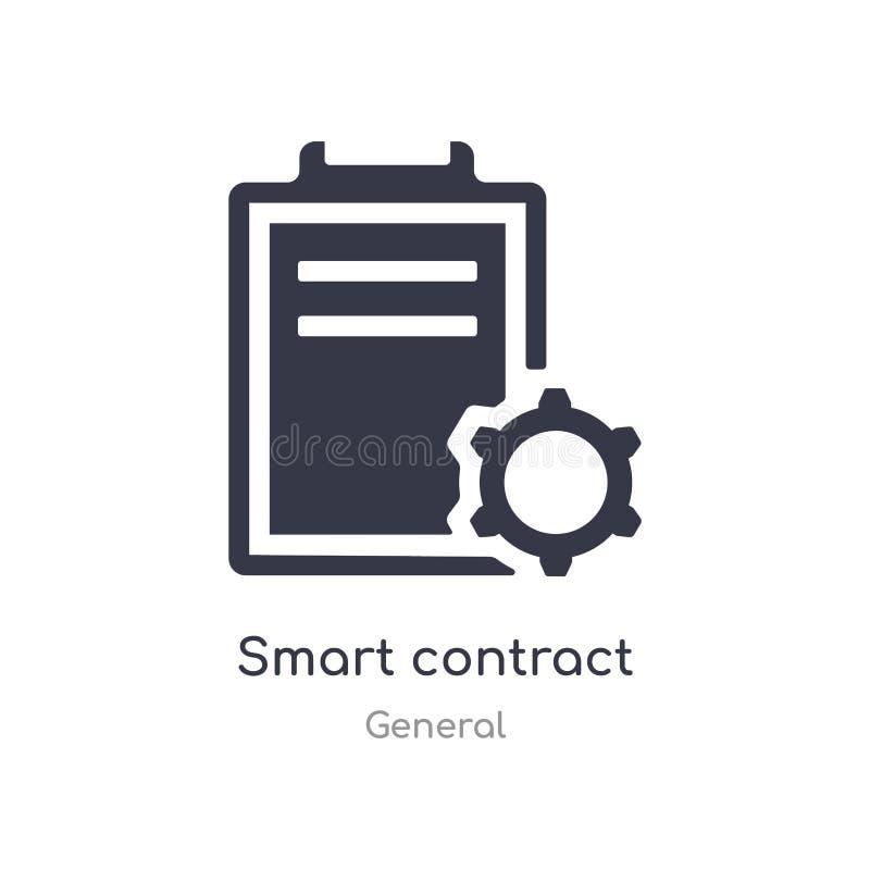 slim contractpictogram de geïsoleerde slimme vectorillustratie van het contractpictogram van algemene inzameling editable zing sy royalty-vrije illustratie