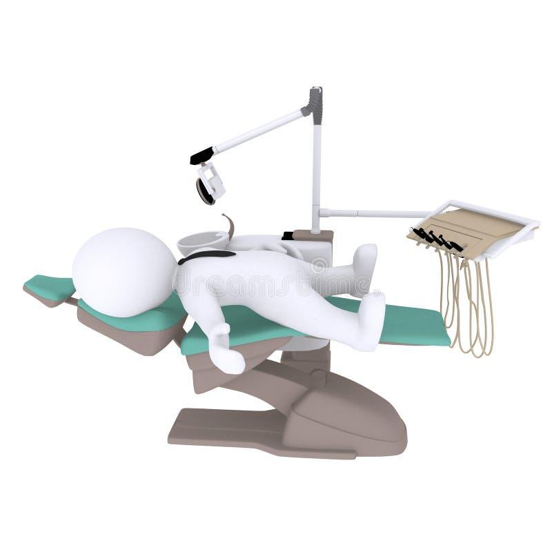 Slim 3d cijfer bij tandarts vector illustratie