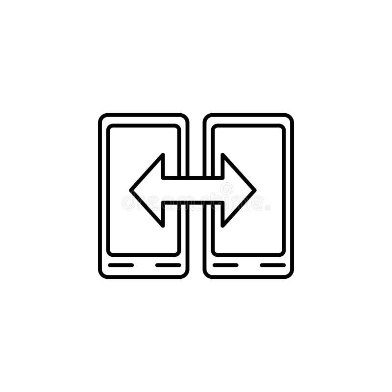 slim de uitwisselingspictogram van telefoongegevens Element van eenvoudig pictogram voor websites, Webontwerp, mobiele app, infor royalty-vrije illustratie