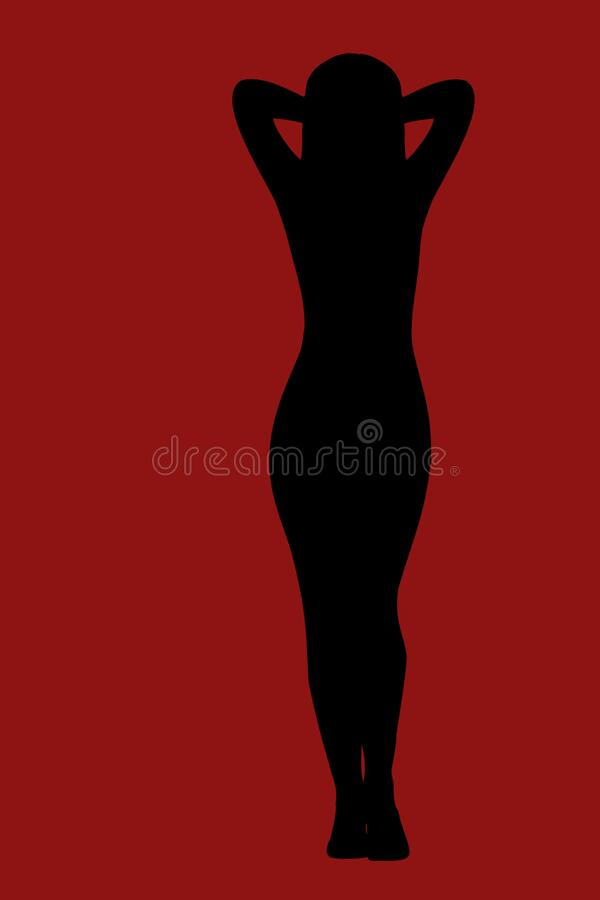 Slim female body stock images