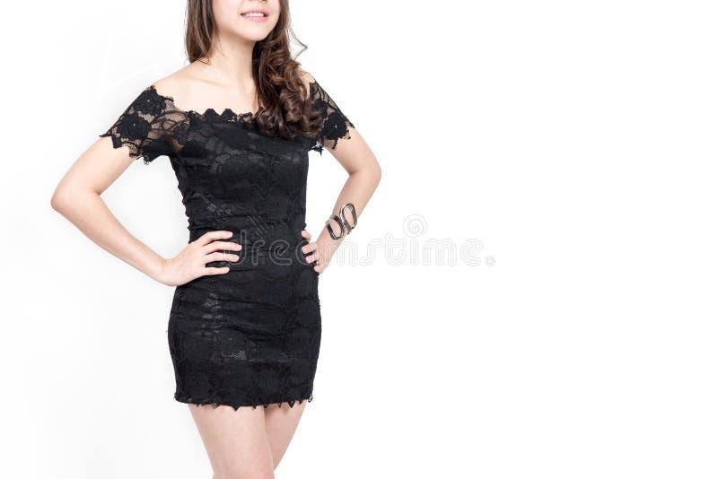 Slim garvade kvinnans kropp på vit bakgrund arkivfoto