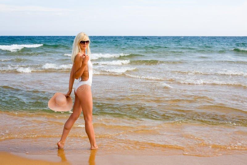 Download Slim girl beach stock photo. Image of swimsuit, slim - 25047616
