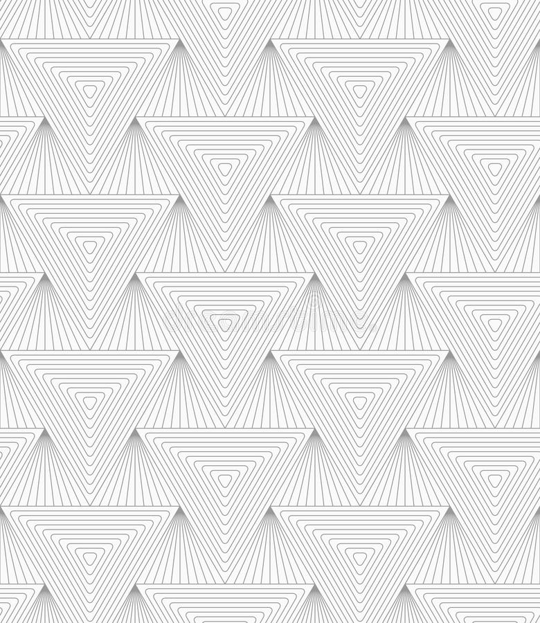 Slim gray hatched triangle royalty free illustration