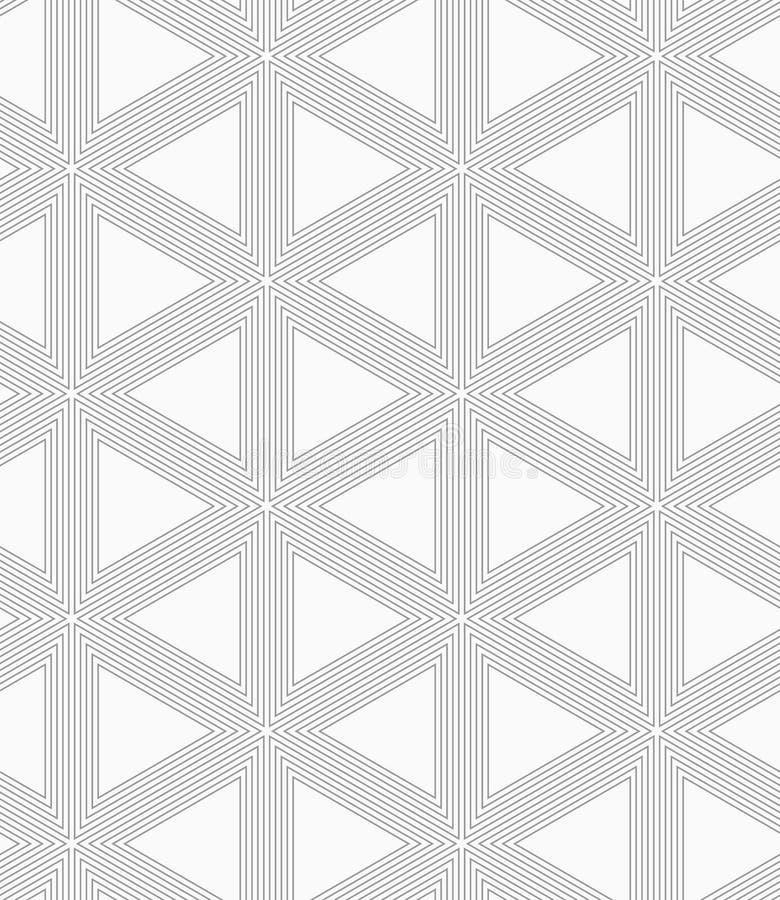 Slim gray triangle grid royalty free illustration