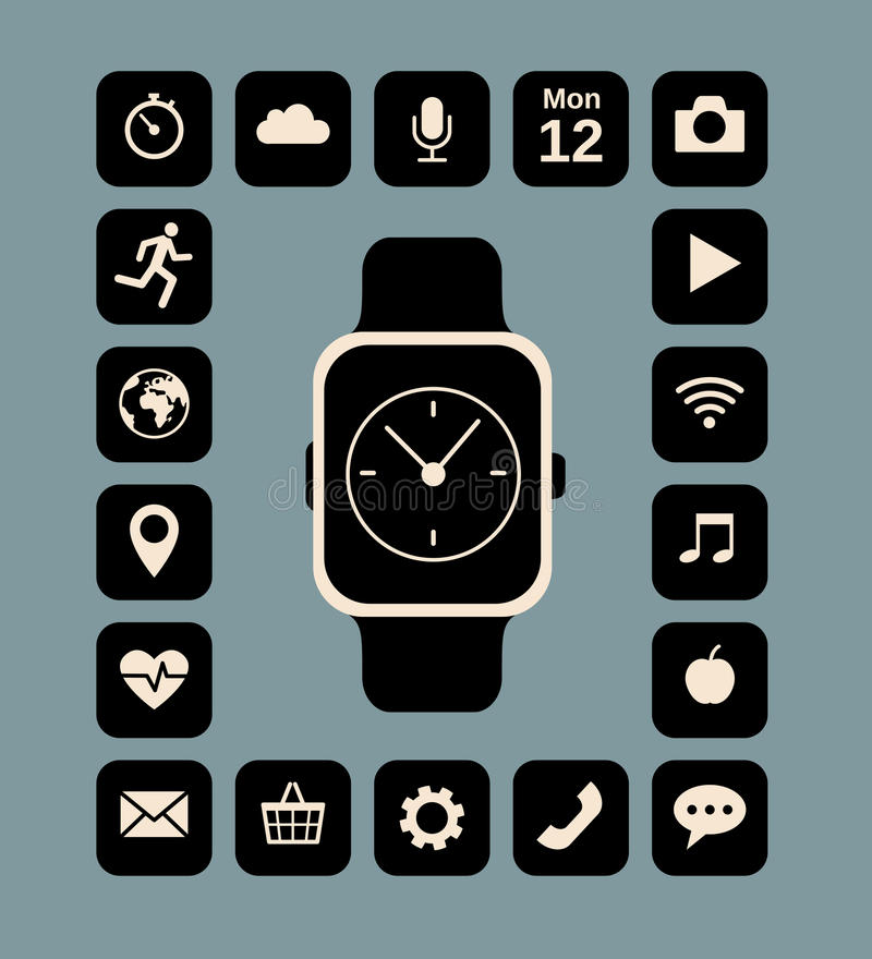 Slim horloge royalty-vrije illustratie