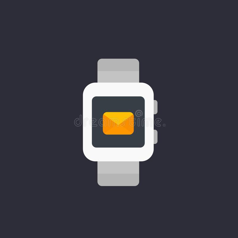 Slim horloge met binnenkomend berichtpictogram royalty-vrije illustratie
