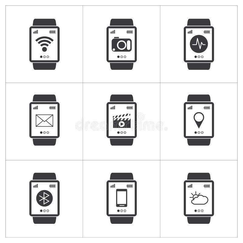 Slim horlogepictogram royalty-vrije illustratie