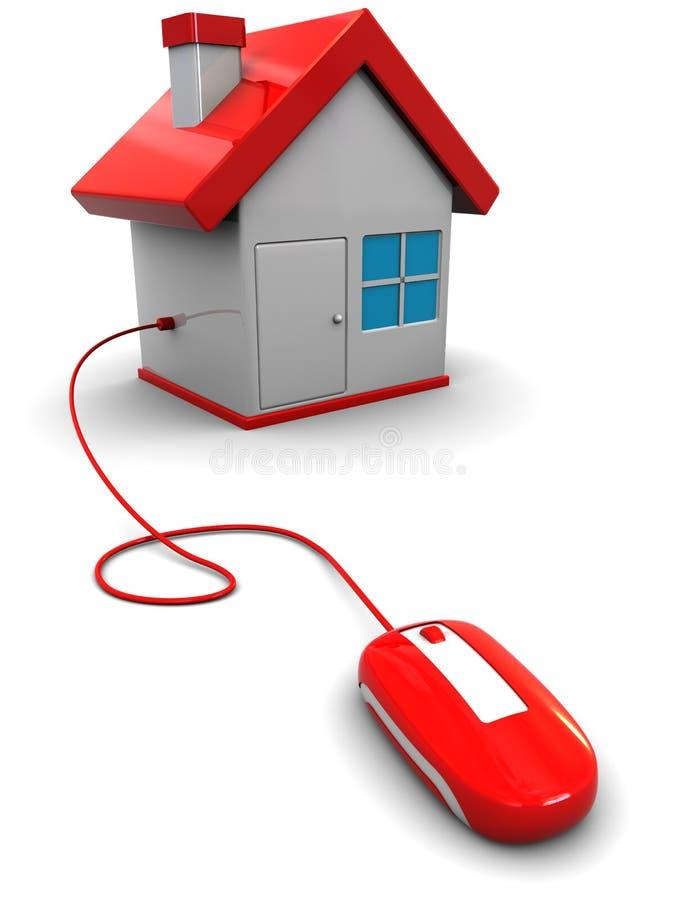 Slim huis vector illustratie