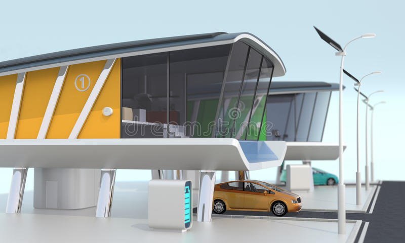 Slim huis communautair concept vector illustratie