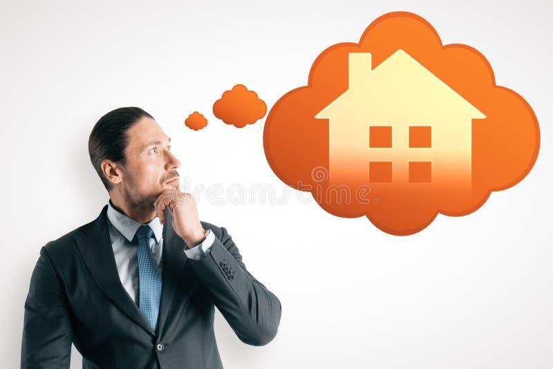 Slim huis en app concept royalty-vrije stock foto's
