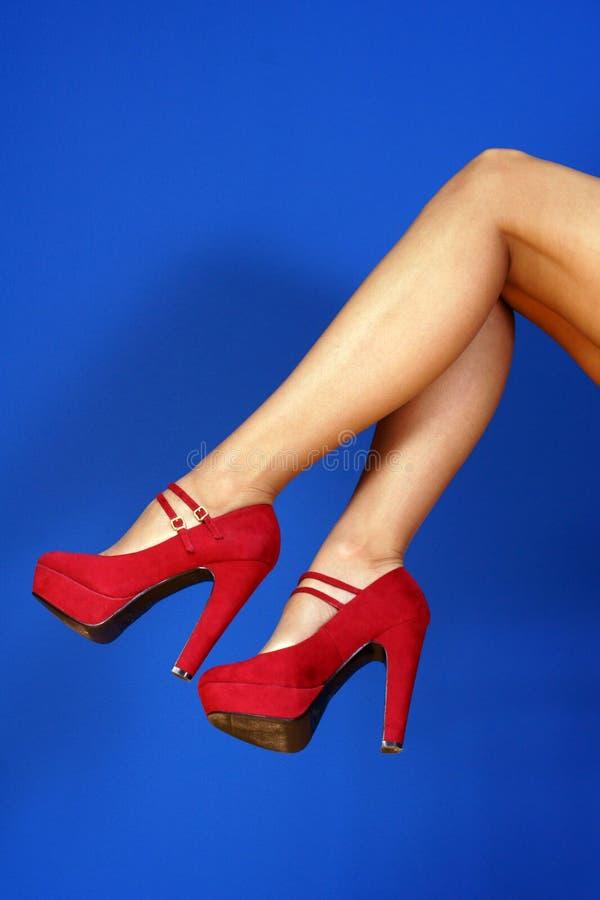 Slim Long Woman Legs Royalty Free Stock Photo