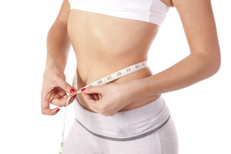 Download Slim measuring waist stock image. Image of fitness, adult - 16848105