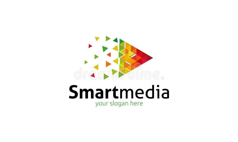 Slim Media Embleem vector illustratie
