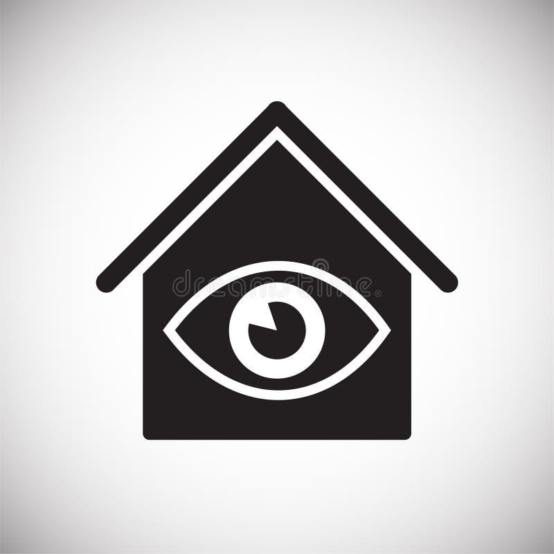 Slim naar huis verwant pictogram op achtergrond voor grafisch en Webontwerp Eenvoudig vectorteken Internet-conceptensymbool voor royalty-vrije illustratie
