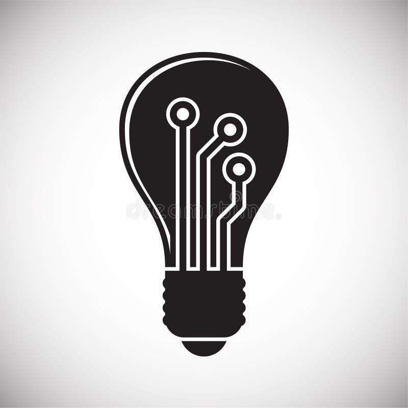 Slim naar huis verwant pictogram op achtergrond voor grafisch en Webontwerp Eenvoudig vectorteken Internet-conceptensymbool voor stock illustratie