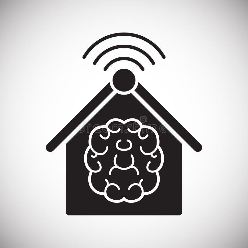Slim naar huis verwant pictogram op achtergrond voor grafisch en Webontwerp Eenvoudig vectorteken Internet-conceptensymbool voor vector illustratie