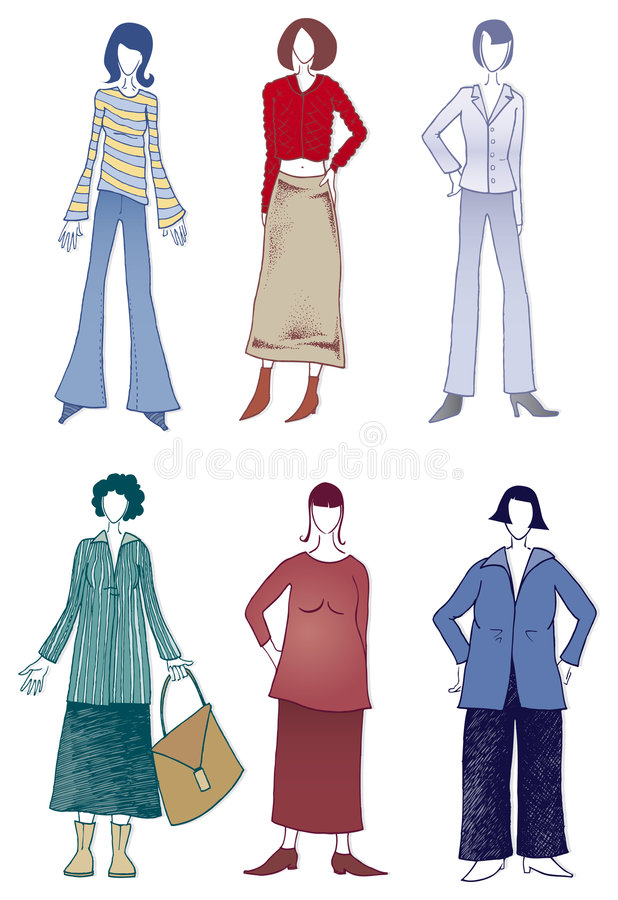 Download Slim And Overweight Figures Stock Vector - Image: 7883856