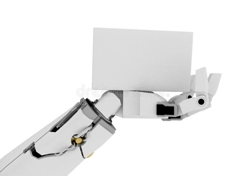 Download Slim Robot Arm, White Sign stock illustration. Image of electronics - 6227096