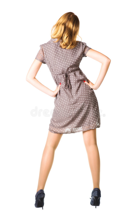 Download Slim woman backside view stock image. Image of glamour - 6701401