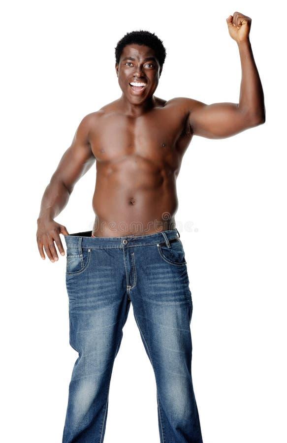 Slim Weighloss Man Stock Image
