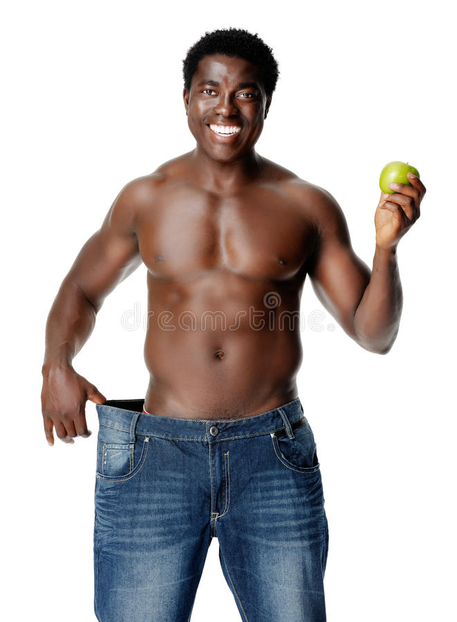 Download Slim weighloss man stock image. Image of expression, cheerful - 23714195