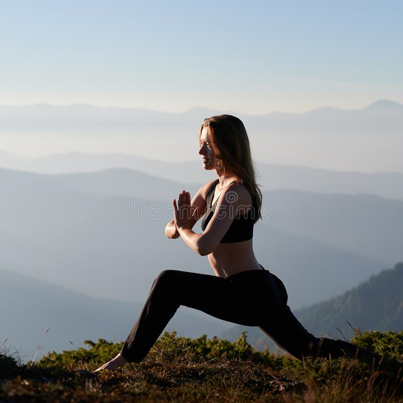 Free Slim Woman Doing Stretching On Fresh Air. Royalty Free Stock Images - 216914279