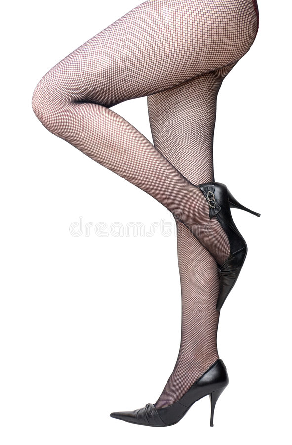 Download Slim Woman Legs In Stockings Stock Image - Image: 3731889