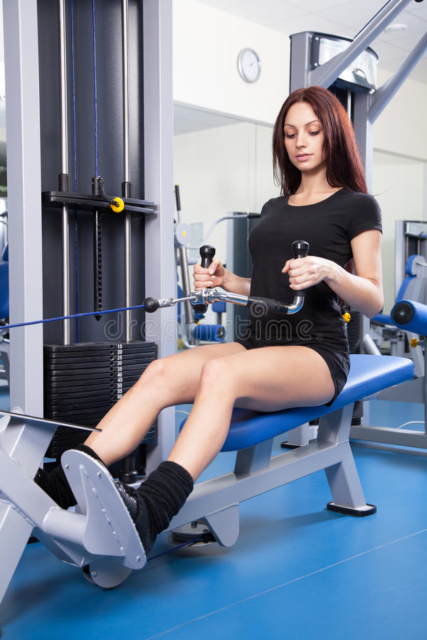 Download Slim Woman Training In A Gym Stock Image - Image of beautiful, fitness: 28618165