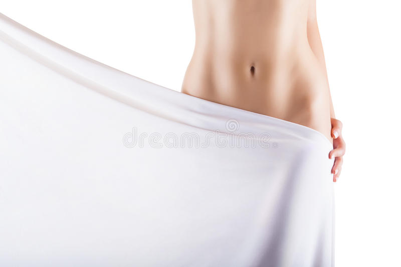 Slim womans body royalty free stock image