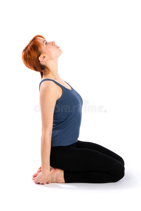 Slim Young Woman Doing Fitness Exercise Stock Photo