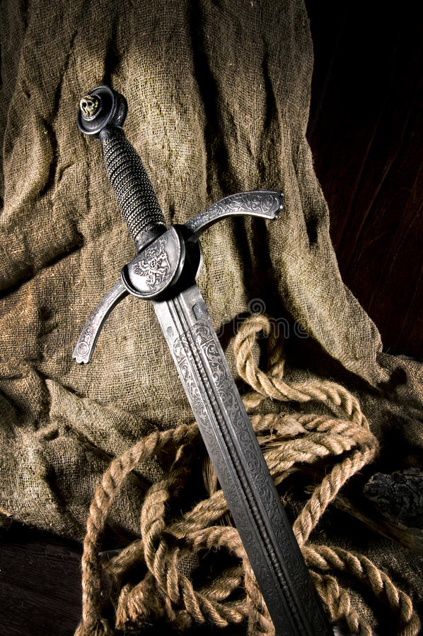 Slim zwaard royalty-vrije stock foto