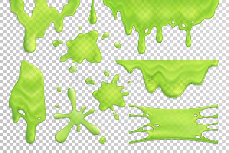 Slime στάζει το ρεαλιστικό σύνολο ελεύθερη απεικόνιση δικαιώματος