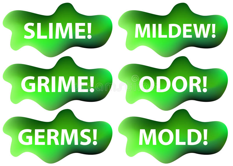 Slime Icon Set. An image of a slime icon set vector illustration