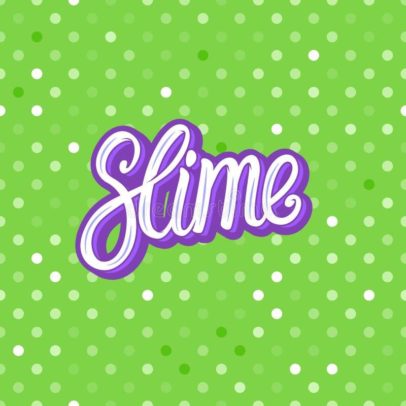 Slime lettering inscription. Green polka dot. Seamless pattern. Vector illustration texture background. Slime lettering inscription. Green polka dot. Seamless royalty free illustration