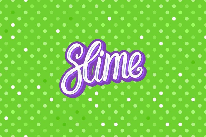 Slime lettering inscription. Green polka dot. Wide Seamless pattern Vector background. Slime lettering inscription. Green polka dot. Wide Seamless pattern royalty free illustration