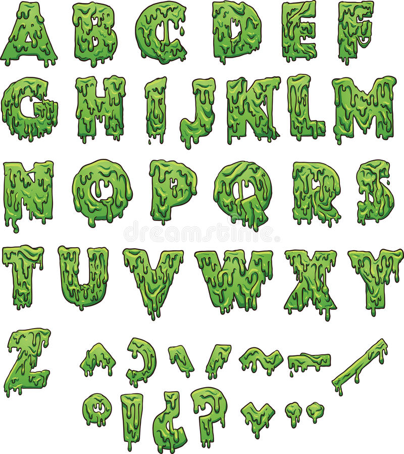 Slime letters. Green slime letters. Vector clip art illustration with simple gradients. Each element on a separate layer vector illustration