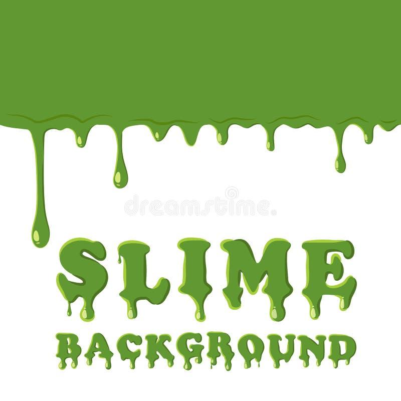 Slime oozing background. Green slime vector illustration royalty free illustration