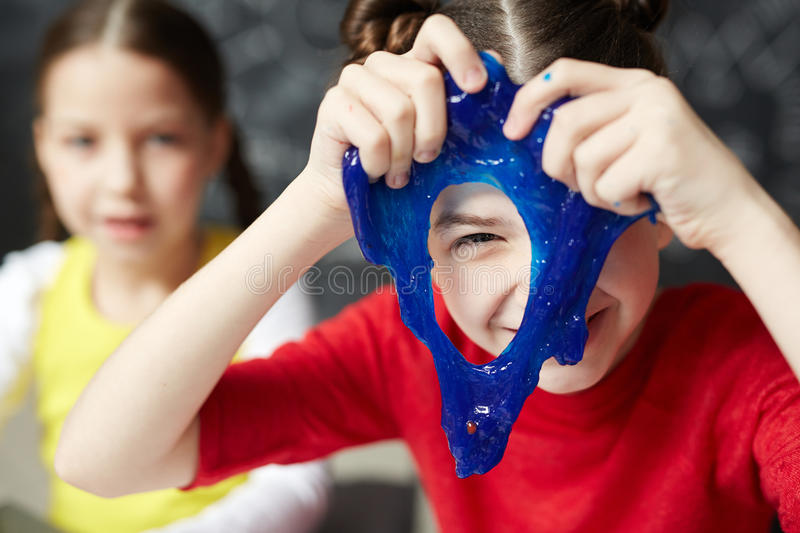 Slime peeking stock photography
