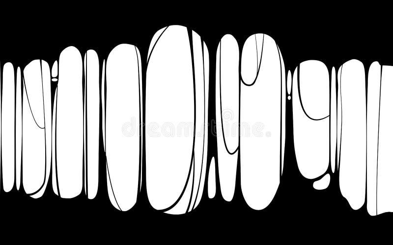 Slime sticky black banner, spittle, snot. Frame of scary zombie, alien slime. Cartoon flat slime isolated object. Slime sticky black banner, spittle, snot. Frame stock illustration