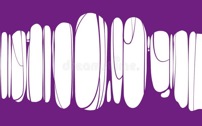 Slime sticky violet banner, spittle, snot. Frame of scary zombie, alien slime. Cartoon flat slime isolated object. Slime sticky voilet banner, spittle, snot stock illustration