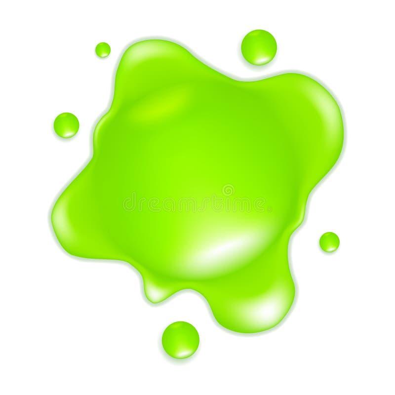 Slime verde ilustração do vetor
