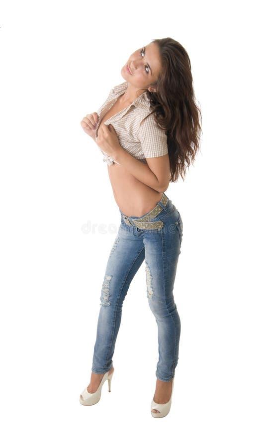 Download Sliml brunette stock photo. Image of girls, adult, glamour - 39502264